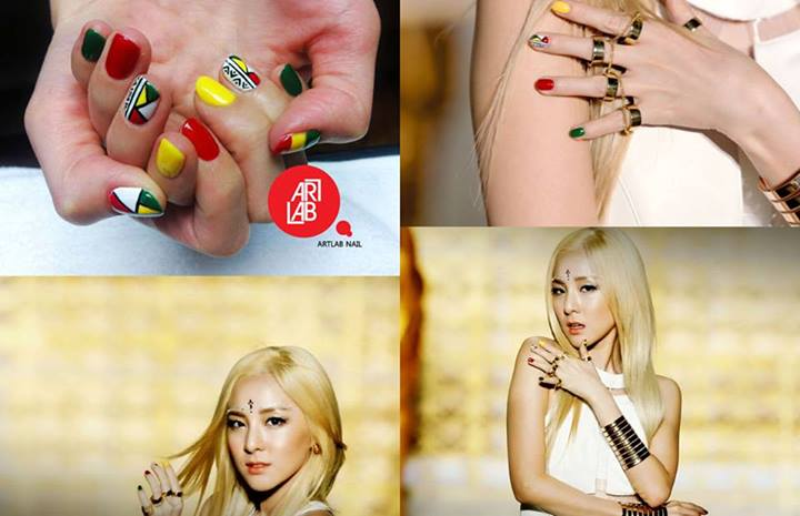 "[PHOTO] Art Lab Shares Dara's Nail Art for ""Falling in ... Dara Falling In Love Nails"