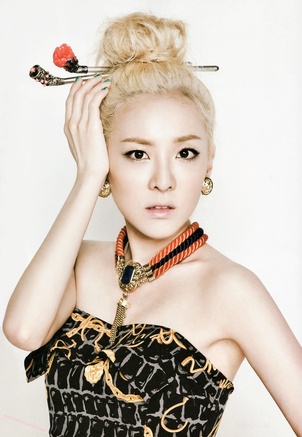 hd scans  sandara park shows her ethereal beauty in