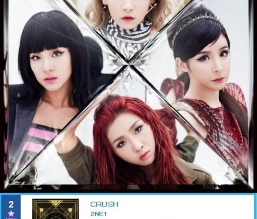 ARTICLE] 2NE1's Album 'Crush' Ranks NO  2 on Oricon, Followed by