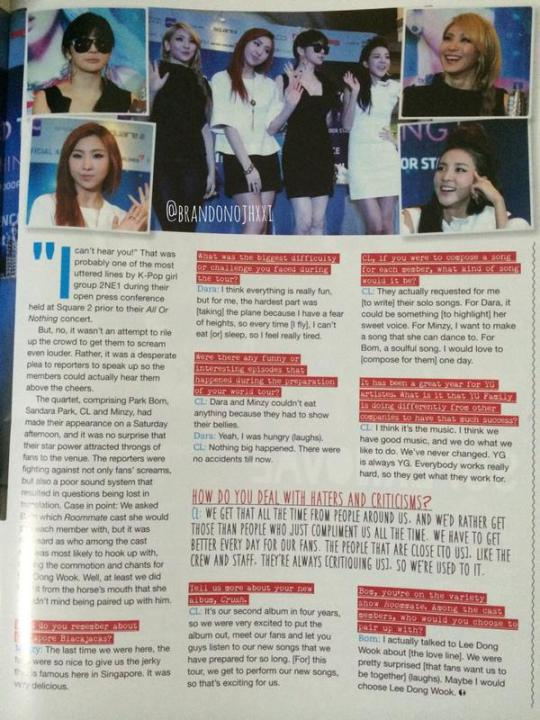Tenn Magazine 2NE1 1
