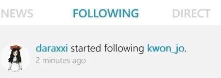 Dara Following Jo Kwon