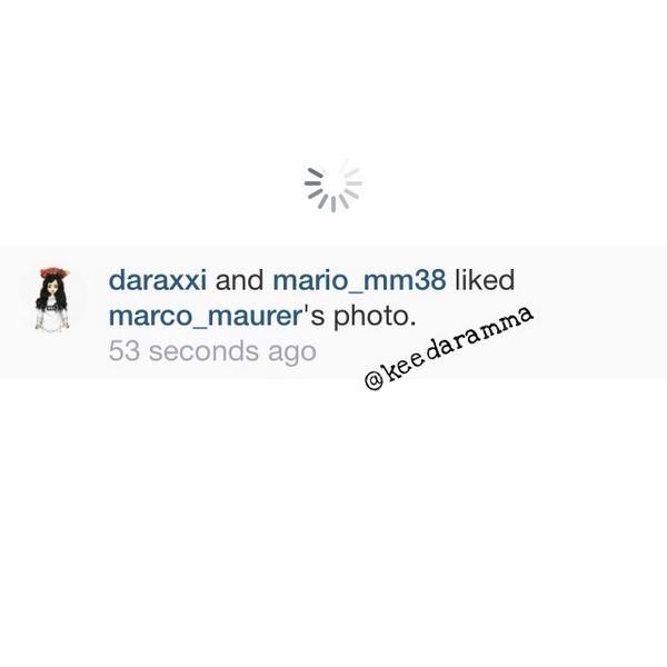 "INSTAGRAM] Marco Maurer\'s Update with Dara ~ ""Nice to see u again ..."