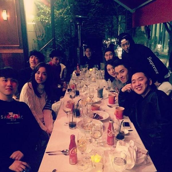 youngwoo instagram update with others and dara